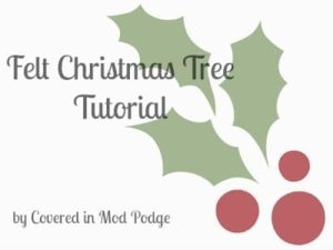 Felt Christmas Tree Tutorial 9