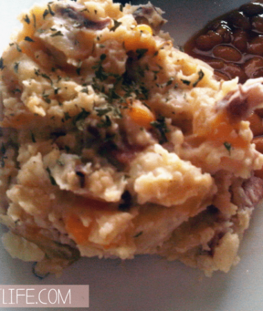 cheesy bacon mashed potatoes