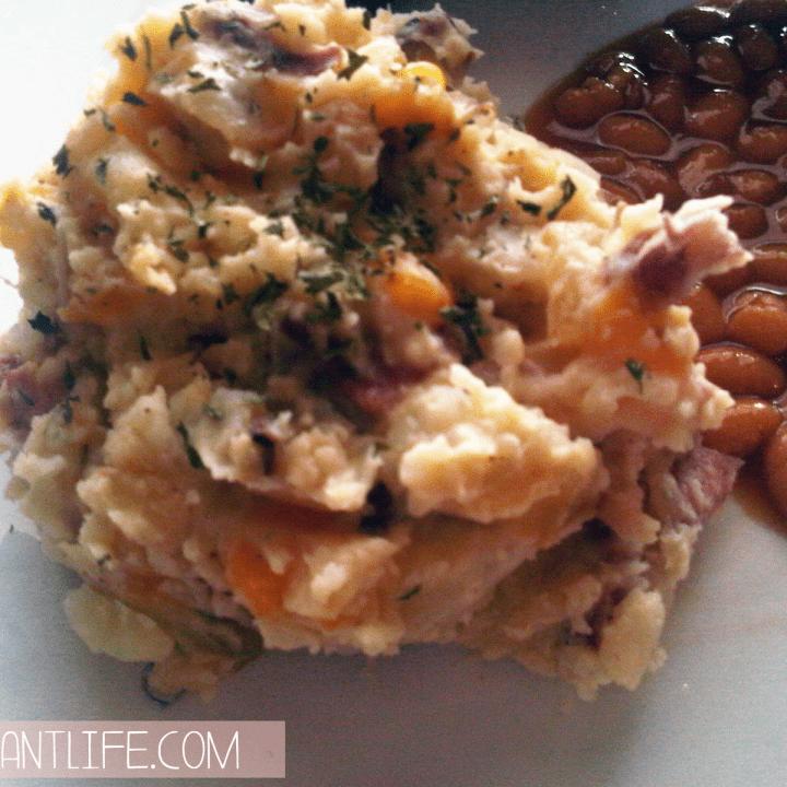 Cheesy Bacon Mashed Potatoes