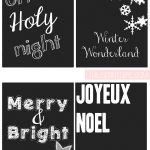 Chalkboard Printable Tags