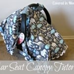 Car Seat Canopy Tutorial 16