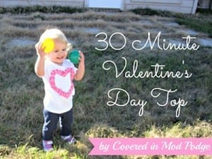 30 Minute Valentine's Day Shirt Tutorial 6