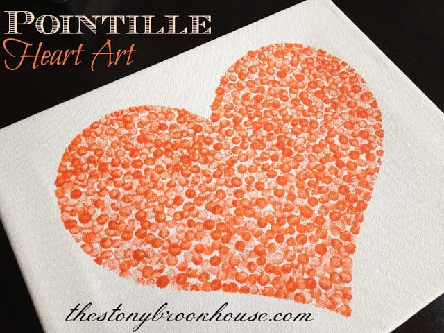 Pointille Heart Art Project