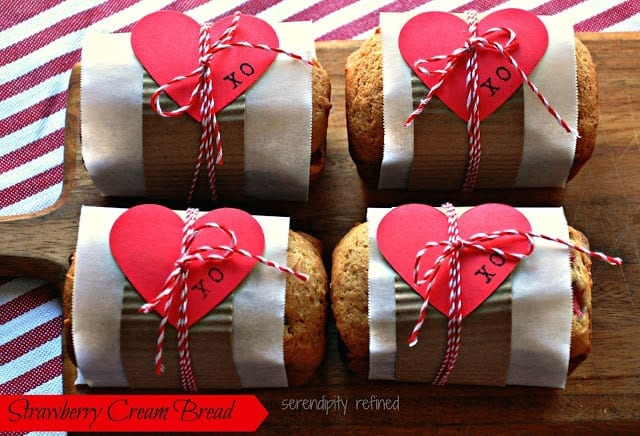 Valentine's day recipe bake strawberry cream bread easy make 13