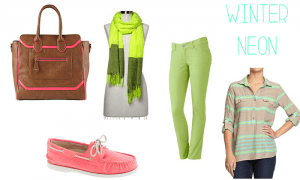 Wearing Neon in the Winter