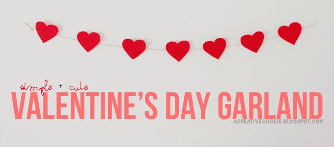 valentines day garland a creative cookie