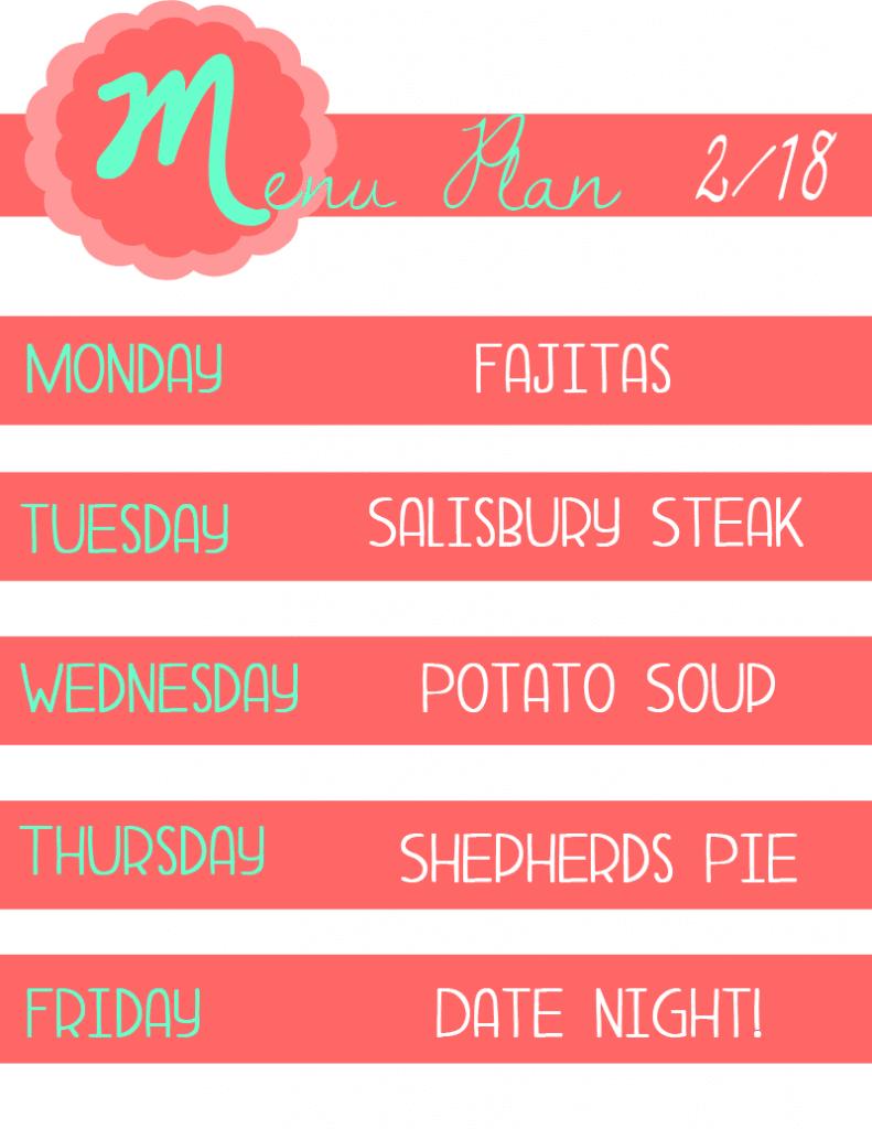 menu plan 6