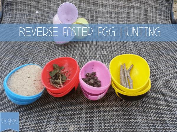 Activites for Kids - Easter activity - reverse easter egg hunt