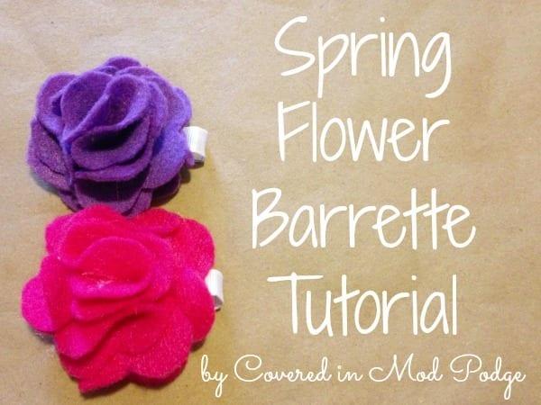 Spring Flower Barrette Tutorial