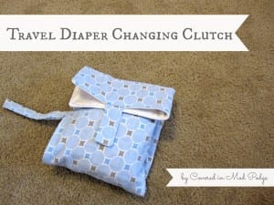 Diaper Changing Pad Clutch 16