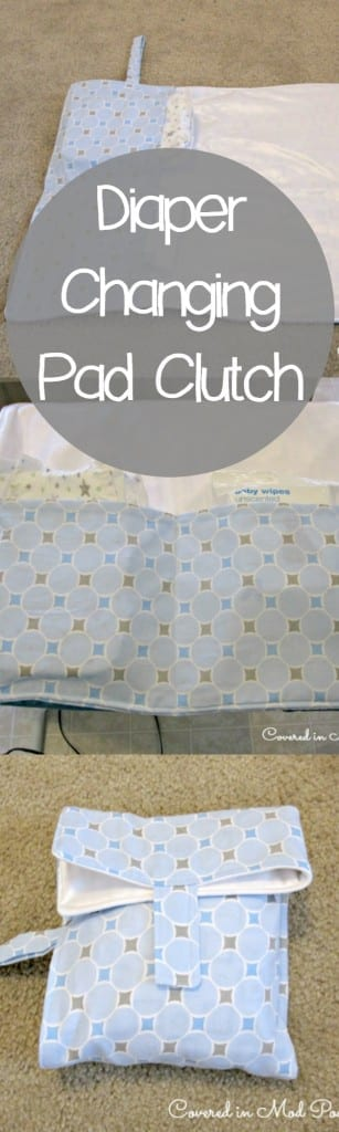 Diaper changing pad tutorial!  Step by step instructions on how to make this easy clutch!