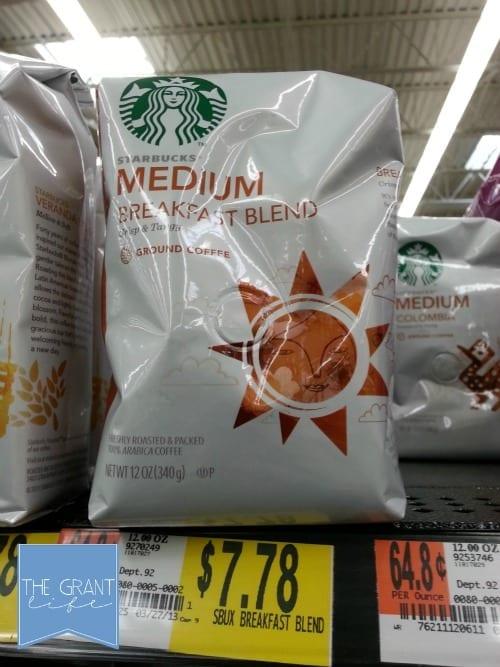 Starbucks medium breakfast blend