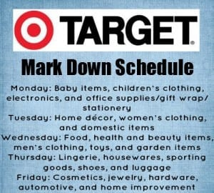 Target market down schedule via thegrantlife.com