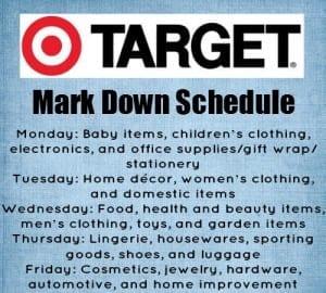 Target market down schedule via thegrantlife.com