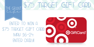 Enter to win a $75 Target Gift Card!  Enter Daily at thegrantlife