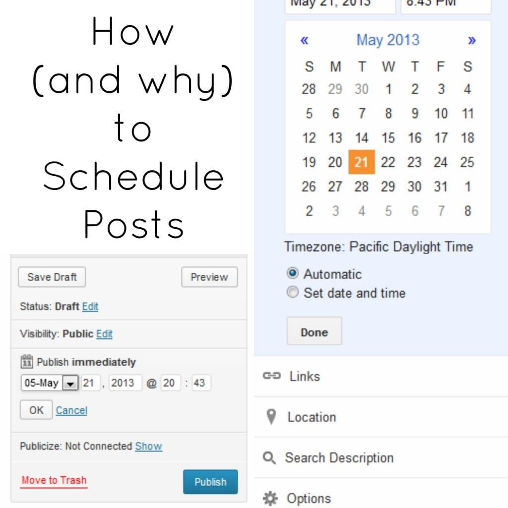 How and Why to Schedule Posts in both Blogger and WordPress via thegrantlife.com