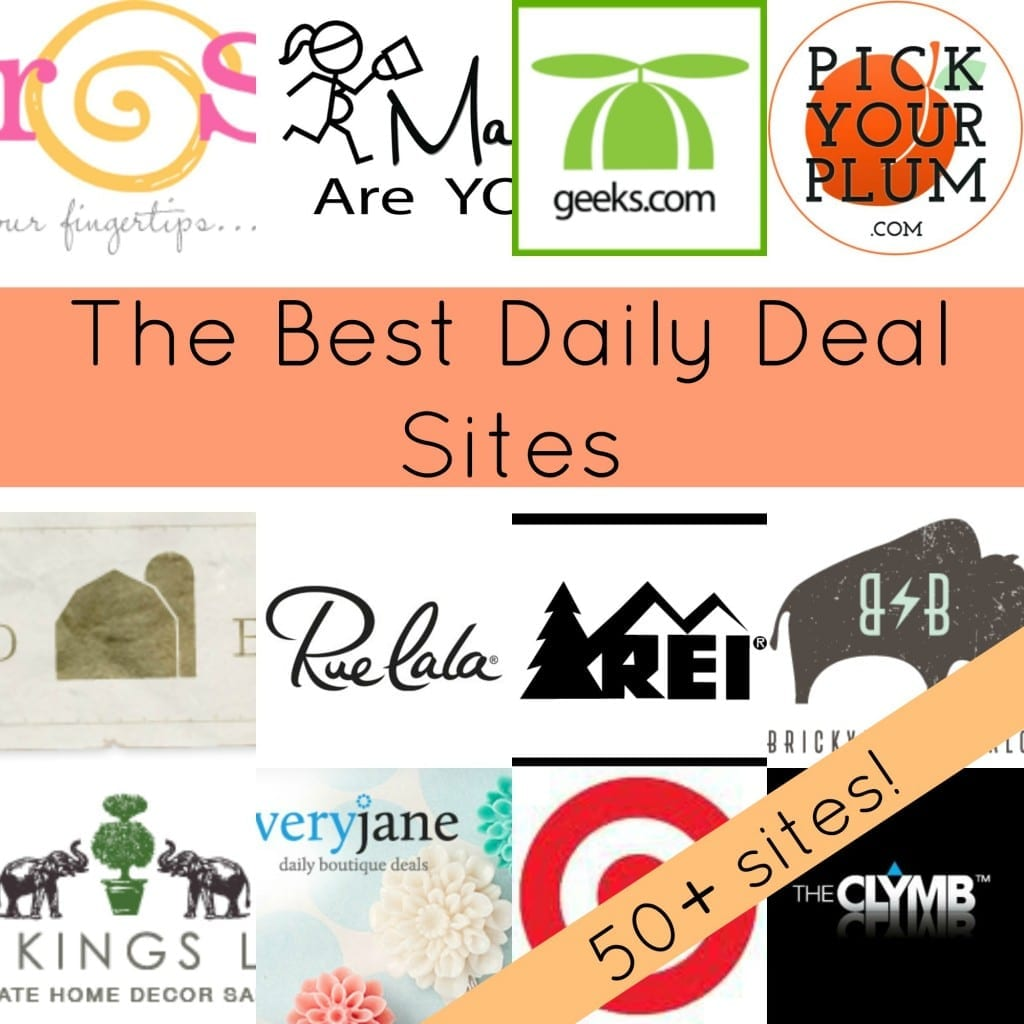 Over 50 Daily Deal Sites that will Save you Money! via thegrantlife.com