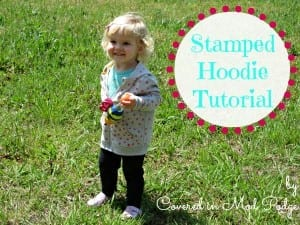 Stamped Polka Dot Toddler Hoodie Tutorial