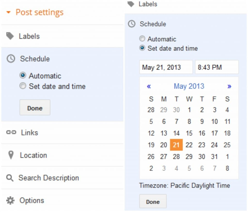 how to schedule posts in blogger - Scheduling Posts