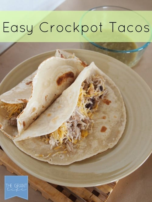 Easy crockpot tacos perfect for any weekday meal via thegrantlife.com