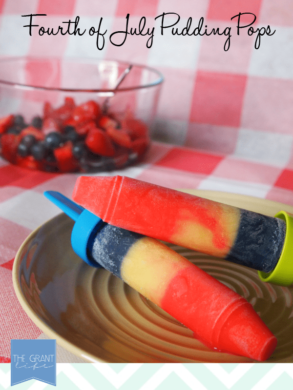 Fourth of July Pudding Pops