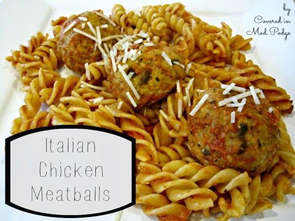 Freezer Friendly Baked Chicken Meatballs
