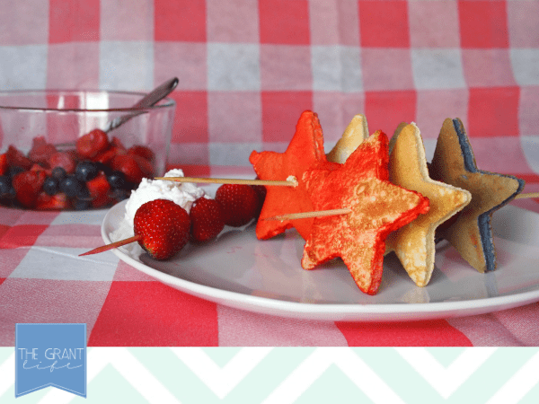 Red, white and blue pancakes perfect for Fourth of July