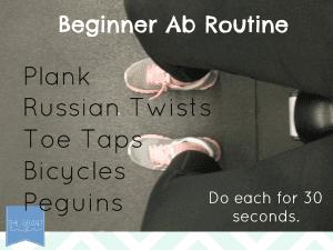 beginner ab routine