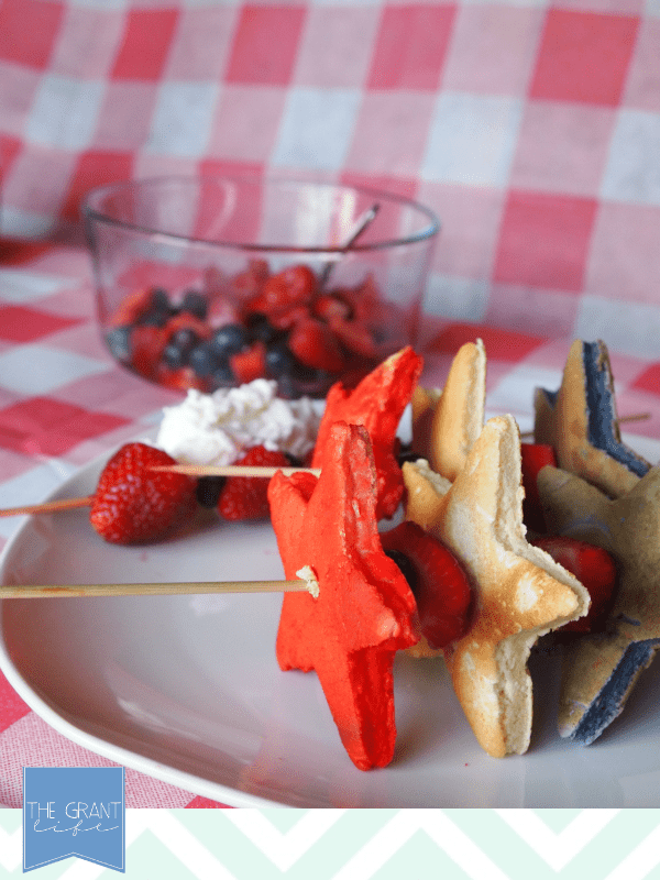 easy fourth of july pancakes