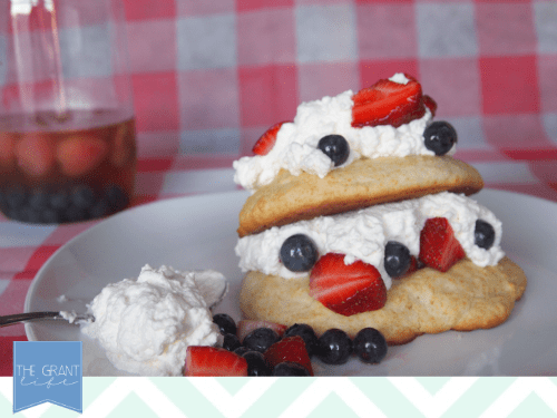 easy spiked strawberry shortcake