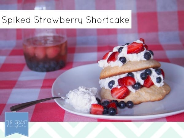 spiked strawberry shortcake perfect for #fourthofjuly