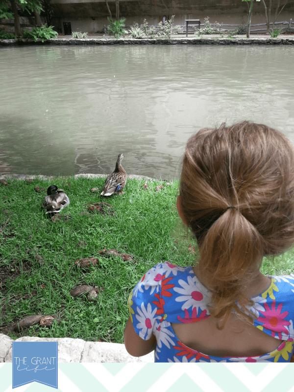 visiting the river walk