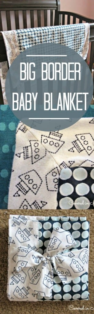 Big border baby blanket tutorial!  Step by step images on how to make this beautiful blanket at home!
