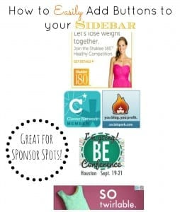 How to Add Buttons to your Sidebar