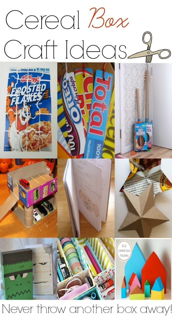 Cereal box craft ideas to do with kids.  You'll never want to throw another cereal box away again!
