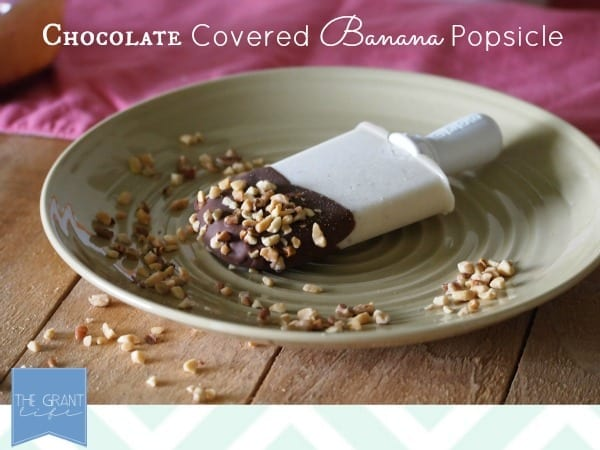 Popsicle Week:  Chocolate Covered Banana Popsicle