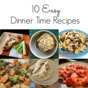 Easy dinner time recipe ideas