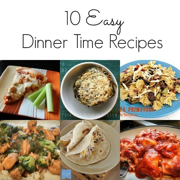 Easy dinner time recipe ideas
