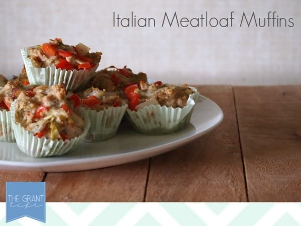 Easy homemade recipes Italian meatloaf muffins.