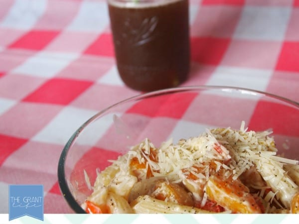 Easy summer pasta - triple veggie alfredo pasta