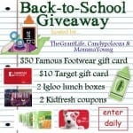 Enter to win a back to school prize pack!