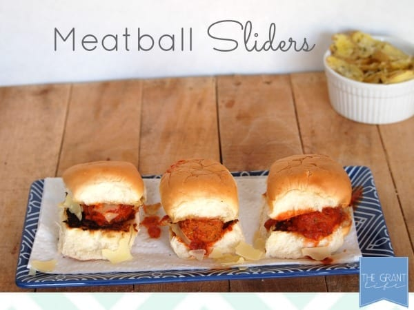 Meatball sliders.  Super easy, super quick and super delicious!