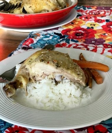 Slow cooker whole chicken and vegetables