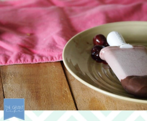 easy chocolate covered cherry popsicle