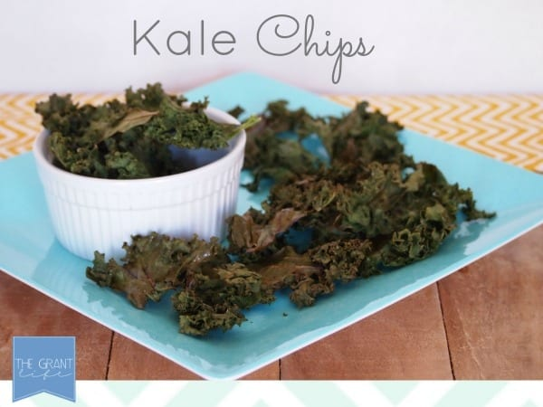 easy healthy snack for kids - kale chips!