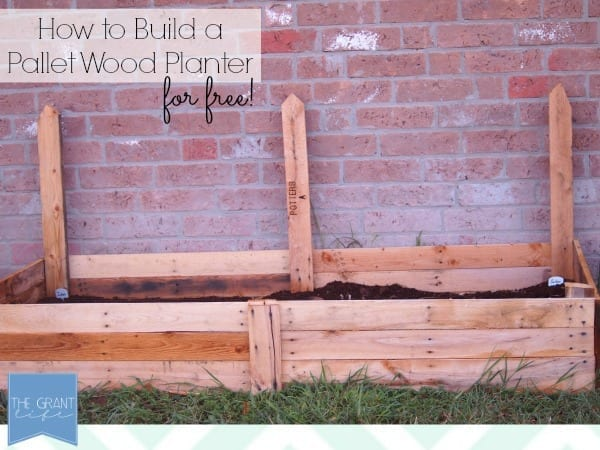 how to build a pallet wood planter