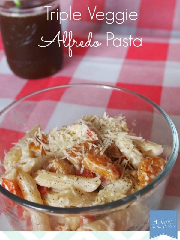 triple veggie alfredo pasta