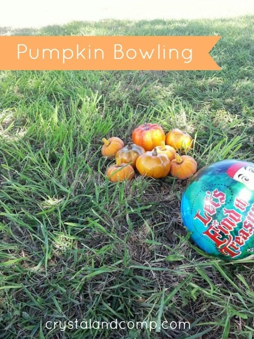 Fall Activities for Kids: Pumpkin Bowling