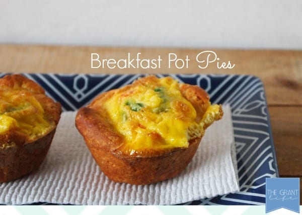 Easy homemade recipe Breakfast pot pies. SO easy!