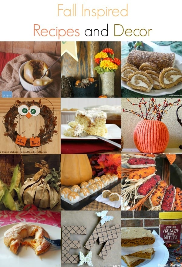 Fall Inspired Recipes and Decor